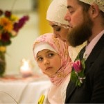 Muslim daughter in father's wedding