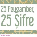 25 Peygamber, 25 Şifre